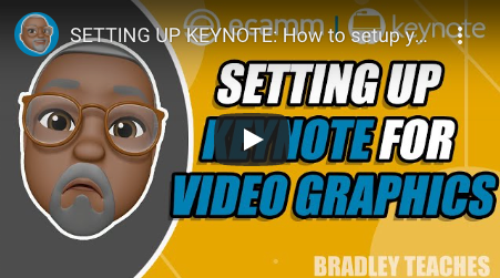 Setting up keynote for video graphics